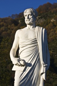 A statue of Aristotle, one of the greatest thinkers in history and among the first to apply ethical reasoning.