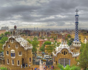 The iconic architecture of Antoni Gaudi looms large on the skyline of Barcelona.