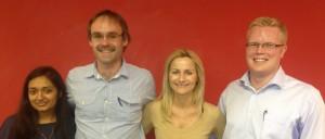 Birju Patel, Murray Izzett, Eva Zielonka and Bruce Longmore