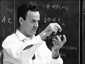Richard Feynman, the originator of nanotechnology.