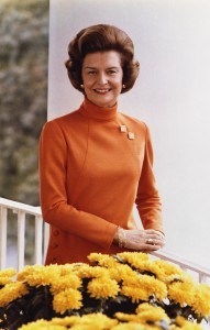 Betty Ford in the White House, 1974.