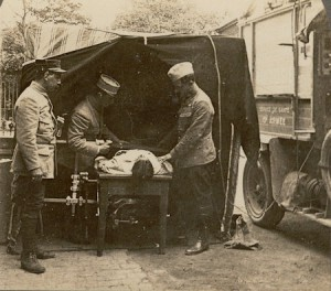 "An X-ray vehicle, known as a ""petite Curie"""
